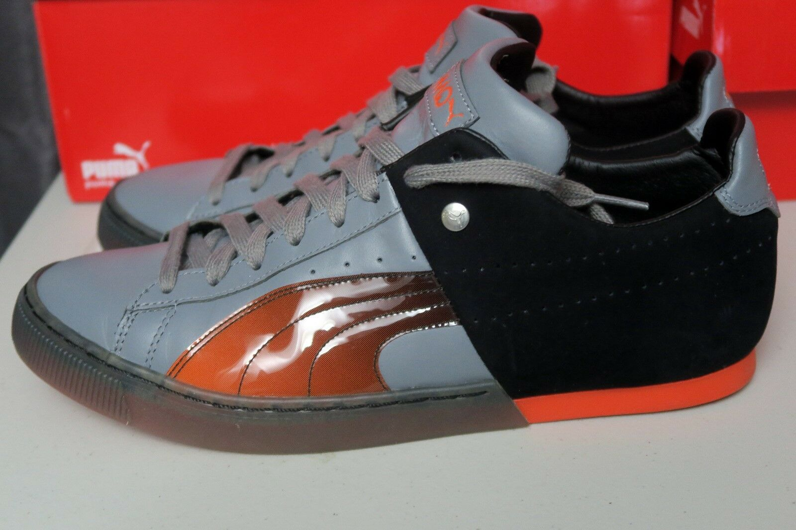 PUMA 50/50 Translucent Steel Gris-tigerlilly- noir  Homme Sneakers MMQ SZ