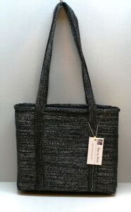 Women-039-s-Handbag-Business-Tote-Zippered-Top-7-Pockets-Footed-Structured-Hand-Made