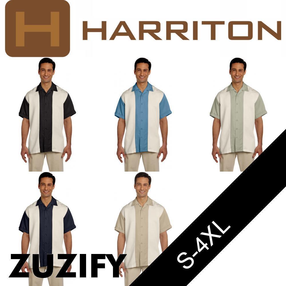 Harriton Mens Two-Tone Bahama Cord Camp Shirt. M575