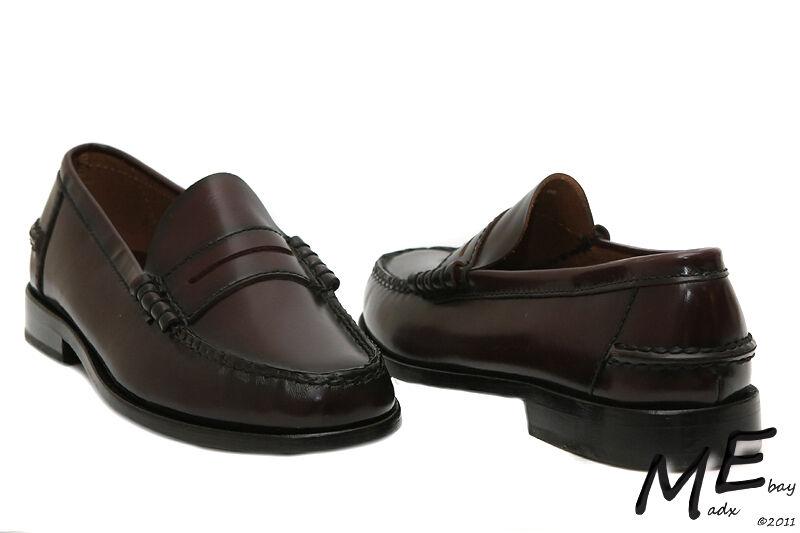 New Florsheim Berkley Penny Loafer Leather Men Dress shoes Size 9.5 burundy