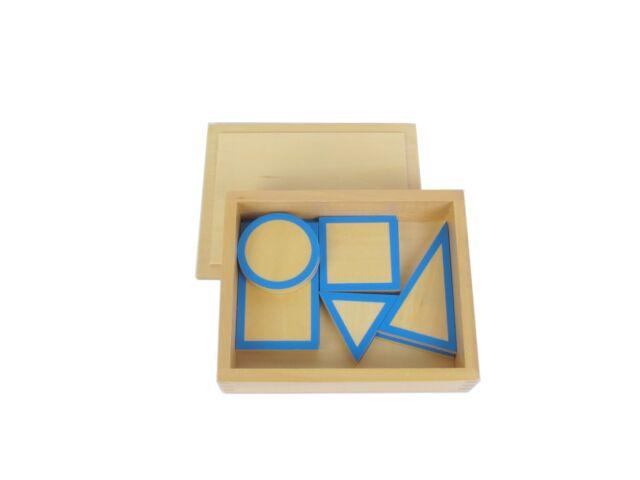 NEW Montessori Sensorial Material - Geometric Solids Bases with Box