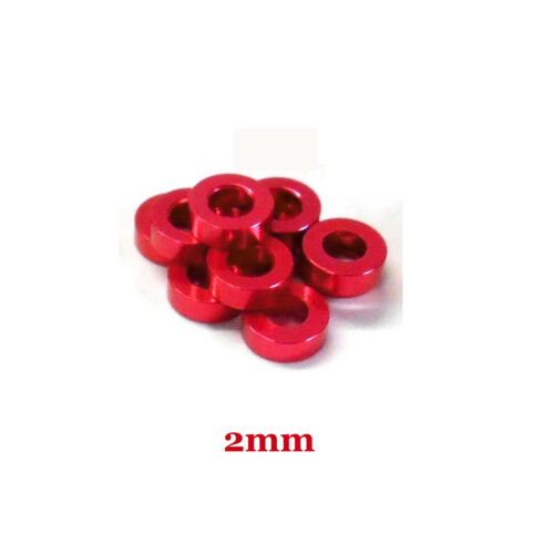 US 20~100pcs M3x6x2mm Red Round Aluminum Alloy Flat Spacer Washer Gasket Ring
