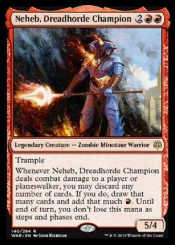 NEHEB, DREADHORDE CHAMPION X4 WAR OF THE SPARK MTG MAGIC ~NOSTALGIC TREASURES~