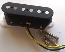 Telecaster bridge pickup, fibre bobbin, alnico 2 magnets (flat), steel baseplate