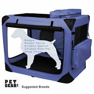 Pet-Gear-Generation-II-Deluxe-Portable-Soft-Crate-30-034-Lavender-50-lbs