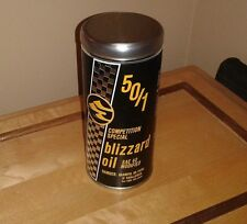 Vintage ski doo reproduction oil can Blizzard Oil gift