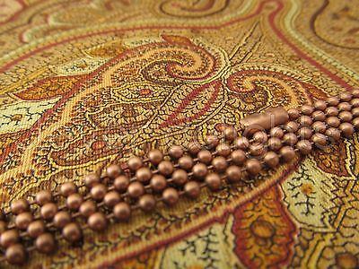 "20 Antique Copper Ball Chain Necklaces - 24 Inch - Pendant Dog Tag Bottlecap 24"""
