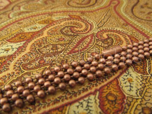 "50 Antique Copper Ball Chain Necklaces Pendant Dog Tag Bottlecap 24/"" 24 Inch"