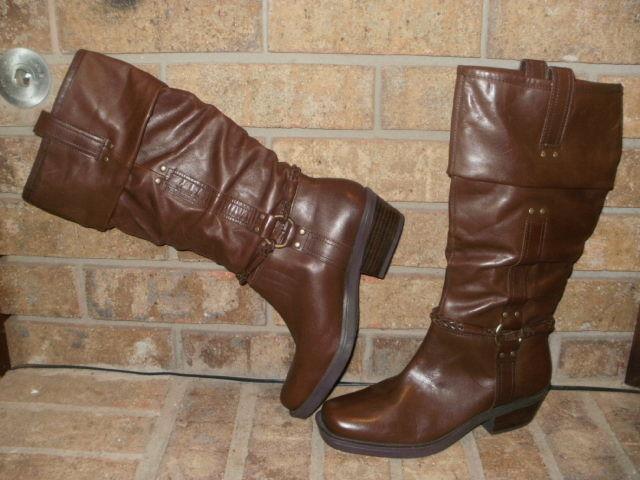 New Yellow Box Bolero Brown Leather Fashion Boots Boots Boots 7.5 M  Brazil 1.5  Heel 64e8c3