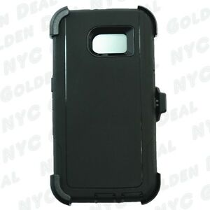 For-Samsung-Galaxy-S6-Defender-Case-Cover-Clip-Holster-Fits-Otterbox-BLACK