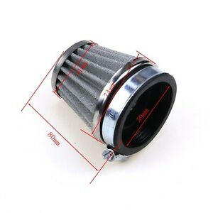 60mm-Air-Intake-Filter-Cleaner-Honda-Kawasaki-Yamaha-Suzuki-Motorcycle-Dirt-Bike