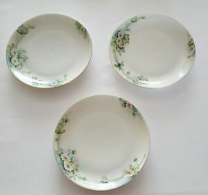 Hutschenreuther-Selb-Bavaria-Plates-Hand-Painted-Daisy-Floral-Set-of-Three-3
