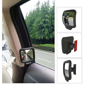 2x Adjustable Blind Spot Mirror Stick Wide Angle Car Truck