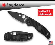 Black Titanium Clip Compatible With Spyderco Native 5 FRN Lightweight C41SBBK5