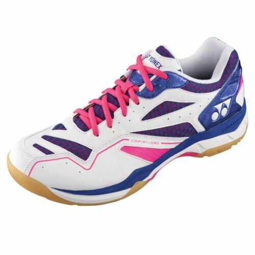 Pink//Blue Yonex Womens Power Cushion Comfort Badminton Shoes