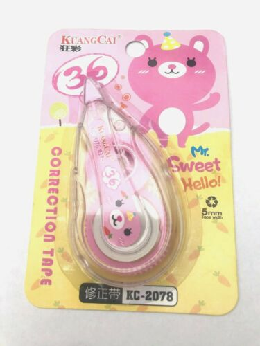 1Correction Roller Tape Tip Wizard Mouse pink bear school office university home