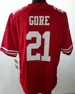 Nuevo-San-Francisco-49ers-21-Gore-Nike-On-Campo-NFL-Jersey-034-L-034-Camisa