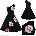 Plus Size Vintage Floral 40s 50s ROCKABILLY Swing Pinup Housewife Retro Dresses