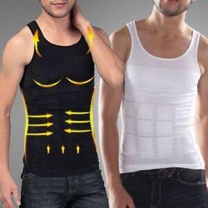 UK Men's Best Shaper Vest for Man Corset Tank Boobs Moobs Body Slim Tummy Belly