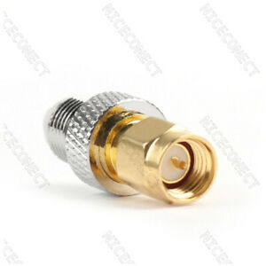 10x-SMA-Male-Plug-to-FME-Female-Jack-straight-RF-Connector-Adapter-Wifi-Brass