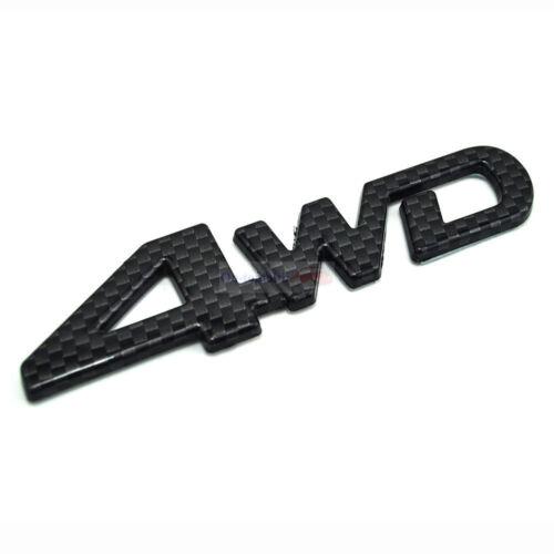 4WD Carbon Fiber Wheel Drive Trunk Rear Emblem Badge Sticker For Toyota Rav 4