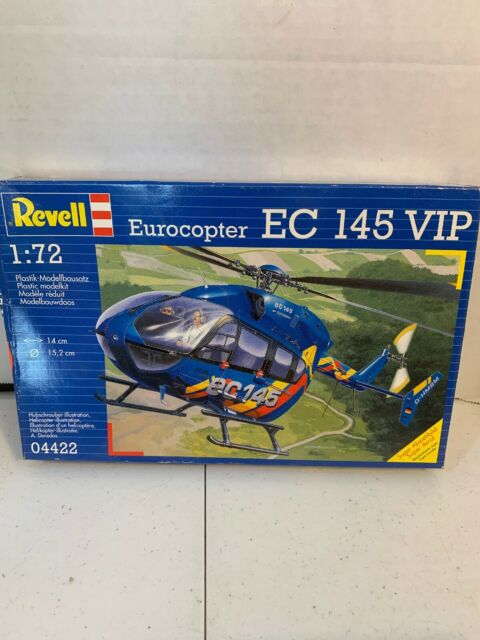 REVELL 04653 EUROCOPTER EC145 Level 3 Police Helicopter 1:72 Scale Kit 92 Parts