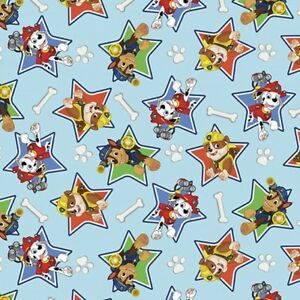 Image Is Loading Paw Patrol In Stars Blue Background FLANNEL Cotton