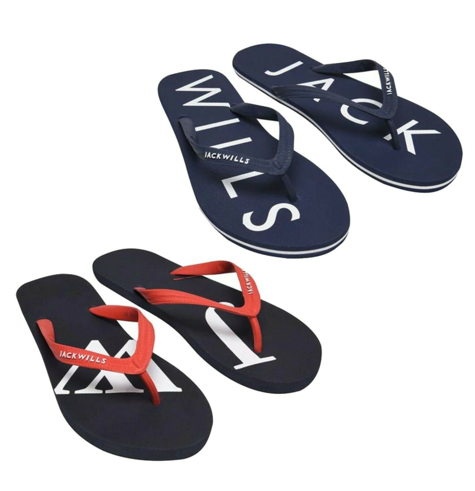 Mens Jack Wills Stylish Fiddington Core Flip Flop Sliders Sizes from 7 to 12