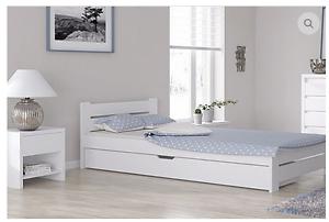 Bett 120x200 mit schubladen  Doppelbett Bettgestell 120x200 weiß bettkasten schublade Massivholz ...