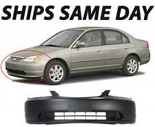 New Primered - Front Bumper Cover Fascia For 2001-2003 Honda Civic Coupe / Sedan