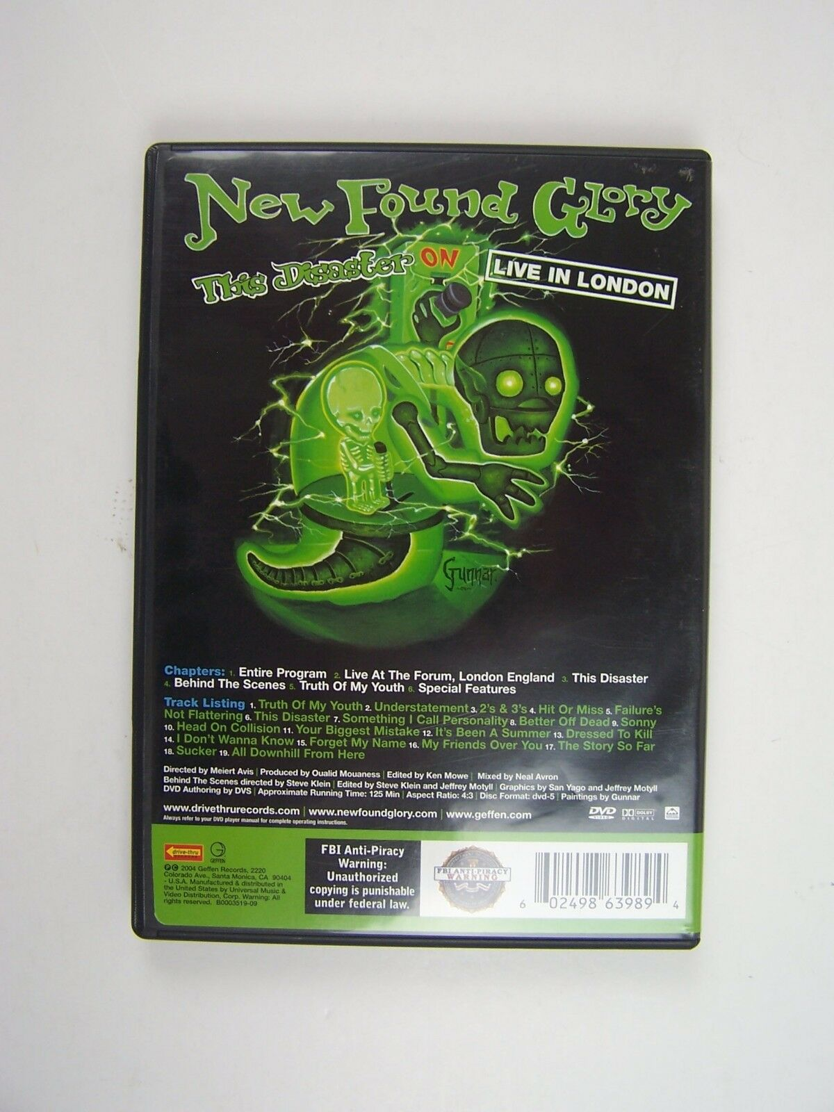 New Found Glory - This Disaster: Live in London DVD 602
