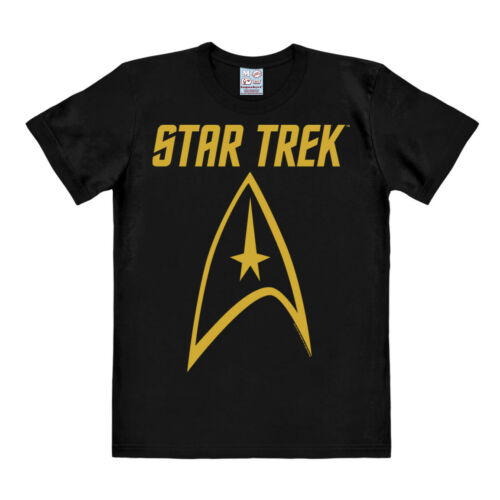 schwarz USS Enterprise LOGOSHIRT Logo Star Trek Easyfit T-Shirt