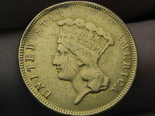 1854-O $3 Gold Indian Princess Three Dollar Coin- Rare New Orleans Mint!