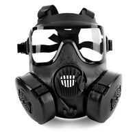 M50 Gas Mask Double Filter Fan Plastic Full Face Safety Guard For Airsoft Game