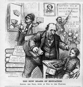 Details About Thomas Nast Boss Tweed Board Of Education Public School Tammany Sowing The Seed