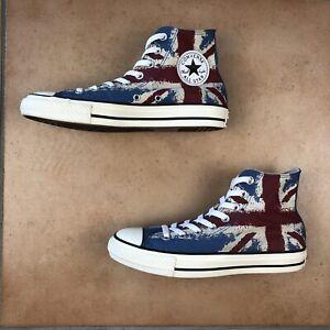 mañana reposo Fraseología  Converse All Star Chuck Taylor Hi Top Union Jack Bandera Británica Talla  M6.5/W8.5 25cm   eBay