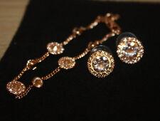 Givenchy Rose Gold-Tone Pave Swarovski Crystal Bracelet & Earrings set