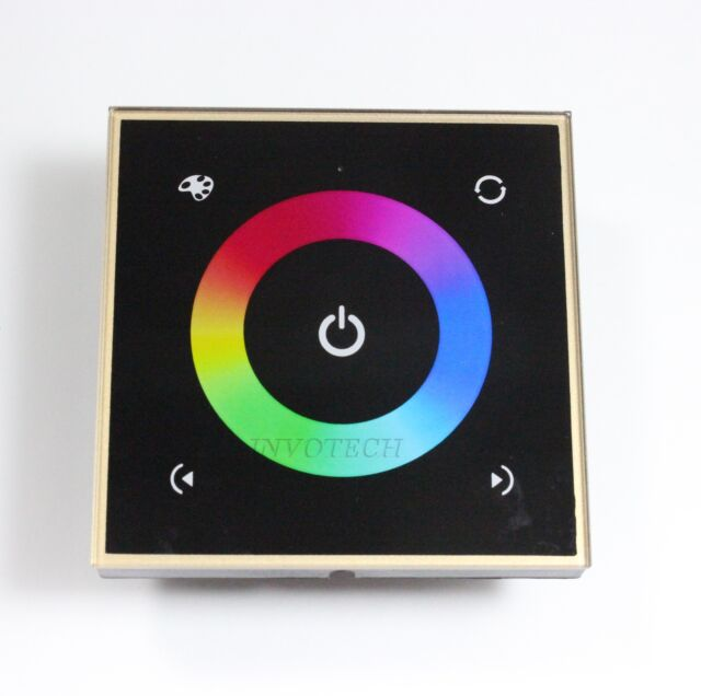 RGBW LED Strip Wall-mounted Touch Controller Full Color Dimmer DC12-24V 16A