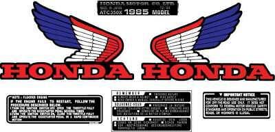 1985 85/' 1986 86/' honda 2pc ATC 350X Maier Chain fender decals sticker graphic