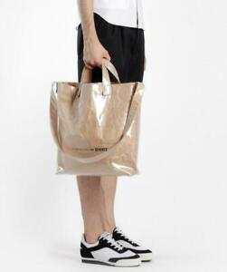 retro 60% discount classic styles Details about CDG Comme Des Garcons PVC Paper Brown Shoulder Bag DSM Virgil  Abloh Off White