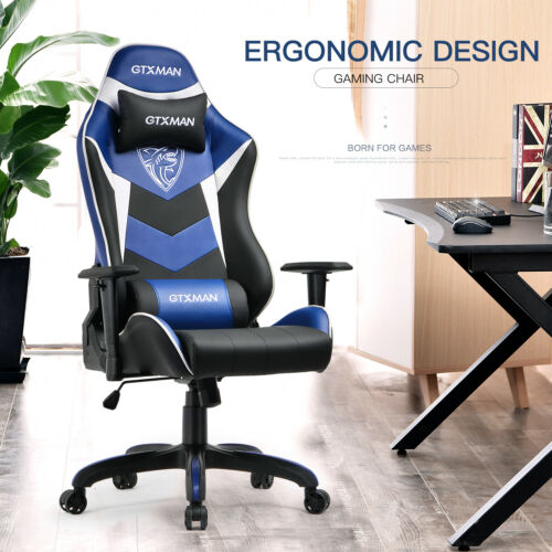 GTXMAN Racing Gaming Chair Massage Ergonomic Swivel High Back Office Desk Seat