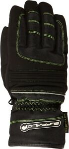 Buffalo-Trail-Mens-Waterproof-Black-Neon-Textile-Motorcycle-Gloves-New
