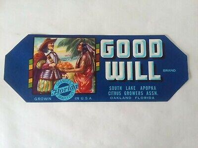 Cocoa Florida Golden Strand Brand Orange Oranges Citrus Fruit Crate Label Print