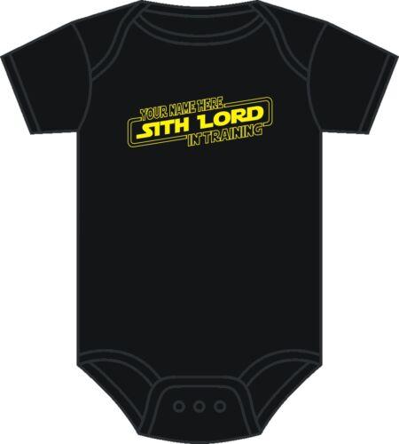 Personnalisé Star Wars Baby Grow Seigneur Sith Dark Vador Babygrow 0-12 mois NEUF