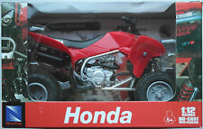 NEWRAY-HONDA QUAD TRX 450r (2009) Rosso 1:12 Nuovo/Scatola Originale