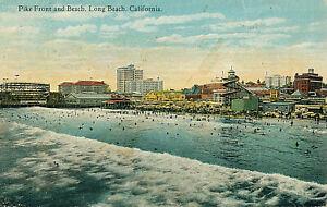 PIKE FRONT AND BEACH, LONG BEACH, CALIFORNIA. CA. ROLLER COASTER. CHUTE/SLIDE.