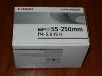 Canon Ef-s 55-250mm F/4-5.6 Is Ii Lens - Eos Rebel T2i T3 T3i T4i T5 2044b002 Ab