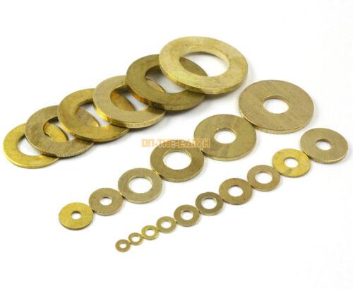 100 Pieces M8 x 16 x 1.2mm Brass Flat Washer