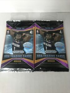 2-Pack-Lot-2019-20-Panini-Prizm-NBA-Retail-Pack-Ja-Zion-Herro-Silver-8-Cards