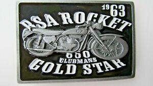 Black BSA Classic Motorcycles /'Star/' Belt Buckle